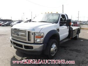 2009 FORD F550 4WD  FLAT DECK