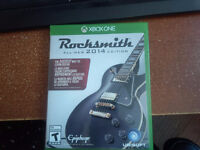 Rocksmith 2014 for xbox one with cable and original box.
