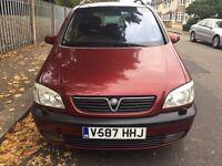 Vauxhall Zafira 1.8 petrol MVP 7 seater automatic