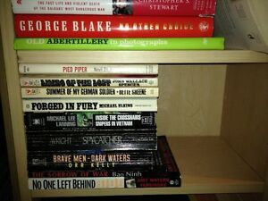 MILITARY, WAR books for sale....