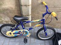 "Raleigh boys bike with 14"" wheels, works £12"