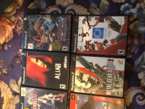 8 ps2 games for sale one has never been opened