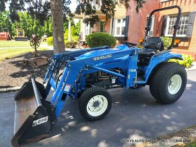 New Holland Tc33 Tractor 7308 Loader 4wd Diesel 33hp Mid Pto Rear Hydraulics