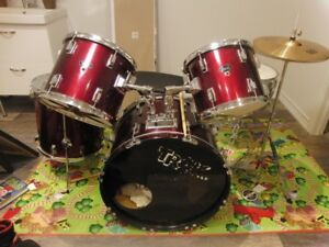 5 Pc Drum Set - great sound includes cymbals and stand