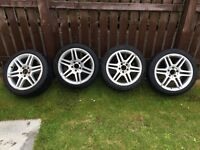 """Genuine 17"""" Mercedes AMG alloy wheels and tyres 5x112 vw, Audi"""