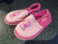Girls toddler size 6 slippers
