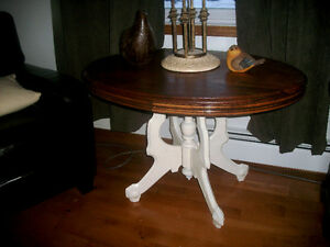 Antique pedestal occasional table