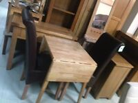 Small extending flip table sale all kinds £70 chairs £50