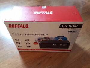 NEW--- BUFFALO BRXL-16U3 Blu-Ray Burner/Writer