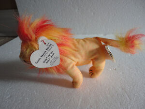 Set of 2 TY Bushy the Lion plush toy collectible Beanie baby NEW London Ontario image 5