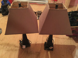 Two sets of lamps