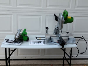"""Brand new Superior skill saw and 10"""" sliding compound miter saw"""