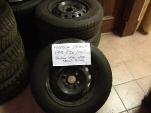 """used Michellin 195/70/14"""" with rims"""