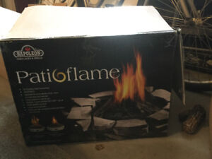 Propane outdoor fireplace one new in the box $300 one used $250