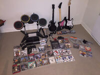 Ensemble PS3 incluant Rock Band et Guitar Hero