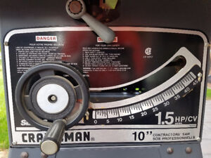 Craftsman 1.5 HP Professional Contractor Table Saw