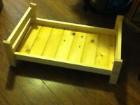 Wooden Pet bed will do trades