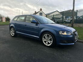 Audi A3 SPORTBACK 2.0 CR TDI SPORT 170 BHP SLINE LEATHER FACELIFT MODEL