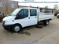 2012 62 FORD TRANSIT 125-BHP, DROPSIDE, PICK UP, CREW CAB, AIRCON, FULL HISTORY