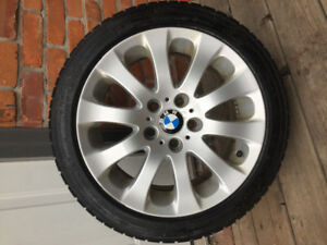 4 Continental Winter Tires & BMW Rims