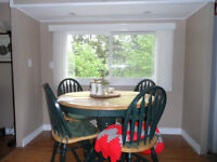 PEDESTAL DINETTE TABLE AND 4 CHAIRS