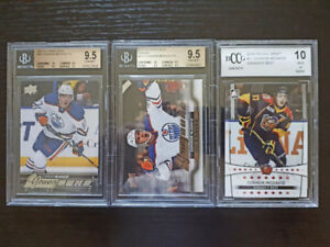 LOOK >> YGS CONNOR MCDAVID & OILERS ROOKIE CARDS