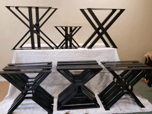 Table legs and base for sale ( powder coated  )