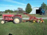 Massey Harris tractor and plow