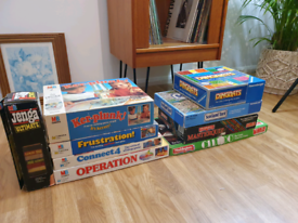 Vintage board games , MB , Waddingtons 1980s 90s