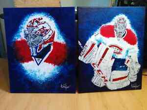 Ensemble de 2 peinutre de carey price