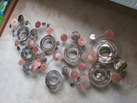 2 x Contemporary Metal Art Circles