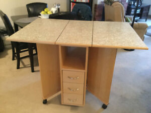 Folding Solid Maple Sewing/Cutting Table