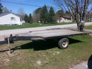 7'x10' ft Tilt and Load Flat Bed Trailer