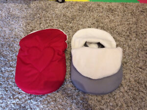 Cuddle Bag with removable cover Red and Grey for twins