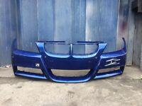 Bmw 3 series m sport front bumper blue parking sensors e90 e91 pre facelift