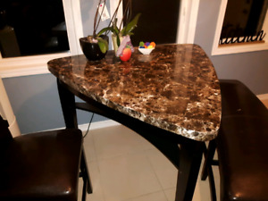 Bar Table with 2 Chairs + Bench