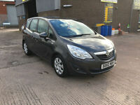 2010 60 VAUXHALL MERIVA 1.4 16V EXCLUSIVE,5 DOOR,ONLY 70000 MILES WITH FULL