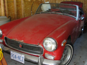 1973 MG Midget 2 Door Red Convertible