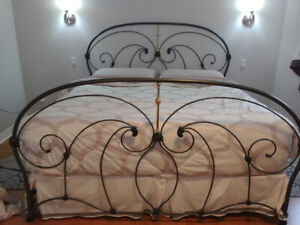 King Size Iron Head-board, Foot-board and  Bed Frame