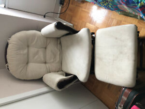 Glider  rocking chair with ottoman / foot stool