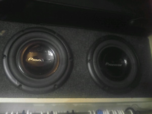 "Bass box for 2 10"" subs."