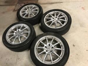 mercedes mags 17 pouces + pneus été pirelli runflat 225 45 17