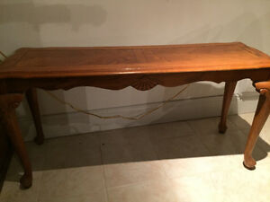 Table console en bois - console table