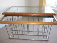 Glass Top desk and Credenza