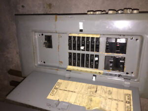100 AMP ELECTRICAL PANEL WITH BREAKERS $75