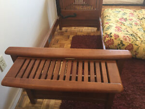 Wooden love seat/ bed