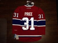 Carey Price autographed jersey with COA Montreal Canadiens