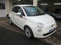 2009 Fiat 500 1.3 MultiJet SPORT DIESEL 1/2 LEATHER LOW MILES FSH 60MPG !!!