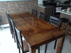 Rustic Hand-Scraped Harvest Dining Table - $700