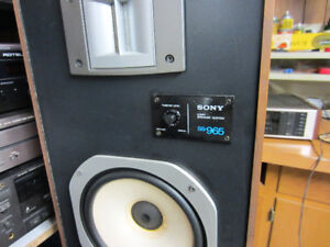 Sony SS965 2 way speakers, good condition, $70 pair